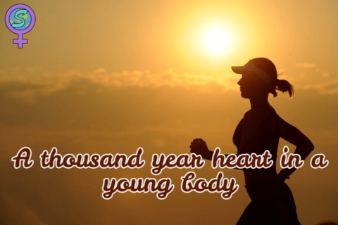 A thousand year heart in a young body