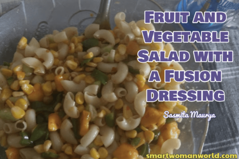 Fruit and Vegetable Salad with a Fusion Dressing