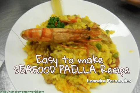 Easy to make Seafood Paella recipe