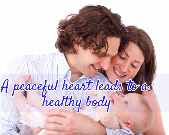 A peaceful heart leads to a healthy heart