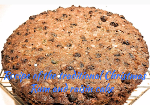 Recipe of the traditional Christmas Rum and raisin cake