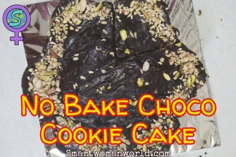 No Bake Choco-Cookie Cake