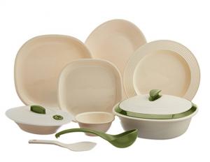 Signoraware Square Dinner Set 36 Pieces Off White Heena
